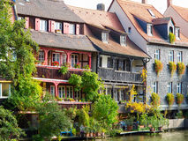 European River Front Buildings Stock Photography