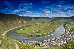 European river moselle. The european river moselle in Germany near by the little town of Bremm Stock Photo