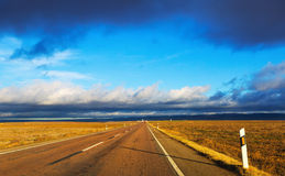 European road among fields Royalty Free Stock Photography