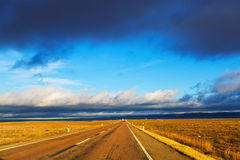 European road among fields Royalty Free Stock Photo