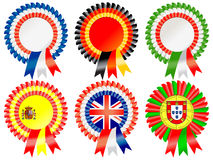 European rosettes Stock Photos