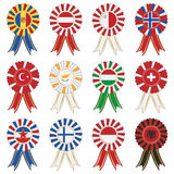 European rosettes Stock Photo