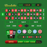 European Roulette Online. European roulette table vector illustration Royalty Free Stock Photography