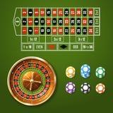European Roulette Set Stock Photo