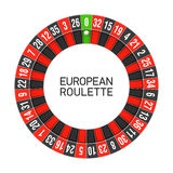European roulette wheel Royalty Free Stock Photo
