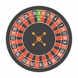European roulette wheel. Top view. Roulette casino wheel. European roulette wheel. Top view. isolated on white background vector illustration