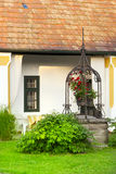European rural house garden fountain. Stock Images