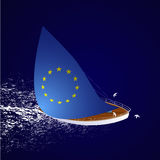 European sailboat illustration Stock Photos