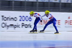 European Short Track Speed Skating championship Royalty Free Stock Photos