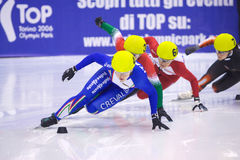 European Short Track Speed Skating championship Stock Photography