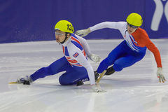 European Short Track Speed Skating championship Stock Photos