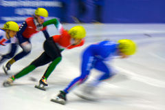 European Short Track Speed Skating championship Royalty Free Stock Image
