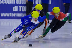 European Short Track Speed Skating championship Royalty Free Stock Images
