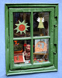 European Shop Window. Image of a window in an old European souvenir shop Stock Photos