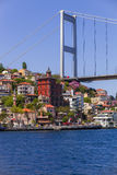 European Side of Bosphorus Bridge Stock Photography