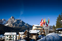 European Ski Resort Royalty Free Stock Photo