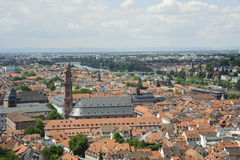 European skyline of heidelberg city . Royalty Free Stock Photo