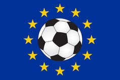 European soccer. Abstract illustration of European soccer vector illustration