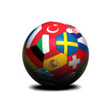 European soccer ball Royalty Free Stock Photos