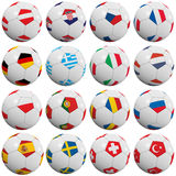 European soccer balls Royalty Free Stock Photography