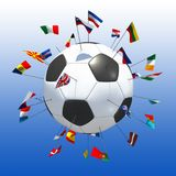 European soccer blue background. 3d rendering Stock Photography