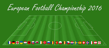 European Soccer Championship - EM 2016. Motive: European Soccer Championship - EM 2016 Royalty Free Stock Photos