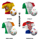 European Soccer - Group C Stock Photography