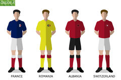 European Soccer Group A. Illustration of European Soccer Group A Royalty Free Stock Image