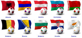 European Soccer Nations Royalty Free Stock Images
