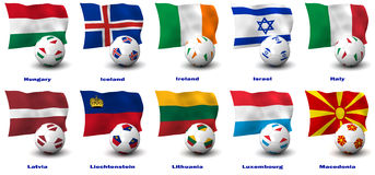 European Soccer Nations Stock Photo
