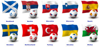 European Soccer Nations Stock Photography