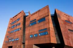 European Solidarity Centre in Gdansk. GDANSK, POLAND - AUGUST 18 - Building of European Solidarity Centre in Gdansk, Poland that was opened in 2014. The image stock photo