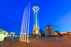European Solidarity square in Gdansk Stock Photo