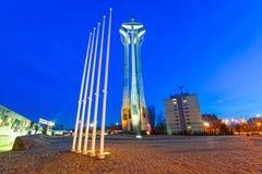 European Solidarity square in Gdansk. European Solidarity square with cross monument in Gdansk, Poland Stock Photo