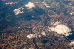 European space viewed from the plane Royalty Free Stock Photo