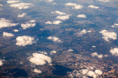 European space viewed from the plane Royalty Free Stock Photos