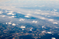 European space viewed from the plane Royalty Free Stock Images
