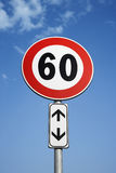 European Speed Limit Sign Royalty Free Stock Image
