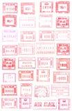 European stamps stock image