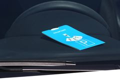 European standard parking disc Stock Images