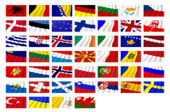 European states. Flags of several european nations Royalty Free Stock Photography
