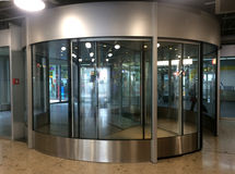 European Station Revolving Door stock photography