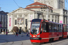 European street transport Silesian Trams Stock Images