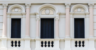 European style Arch Window in the Grand Palace, Bangkok, Thailan Stock Photos