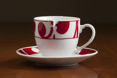 European style broken coffee cup put together Stock Photos