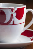 European style broken coffee cup put together Royalty Free Stock Photography