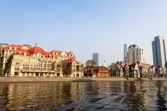 European style building along the Haihe river in Tianjin, China. European style building along the Haihe river in the city center of Tianjin, China royalty free stock photos