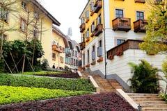 Free European Style Building In Huizhou Hallstatt Town Royalty Free Stock Photos - 126370078