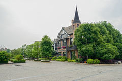 European style buildings in spring,Chengdu Royalty Free Stock Photography