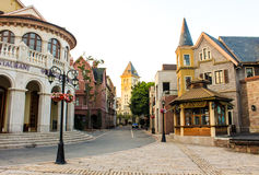 European style buildings Stock Photography